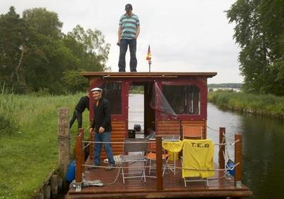 Floßbootfahrt Mecklenburg 2012